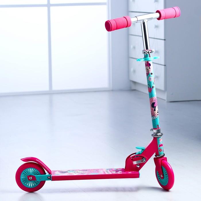 """Самокат """"Минни Маус"""", колеса PVC d=120мм  в пакете"""