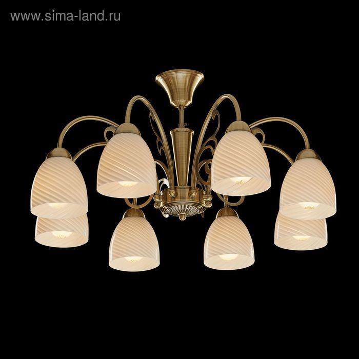 """Люстра """"Пандора"""" 8 ламп 60W Е27 античная бронза"""