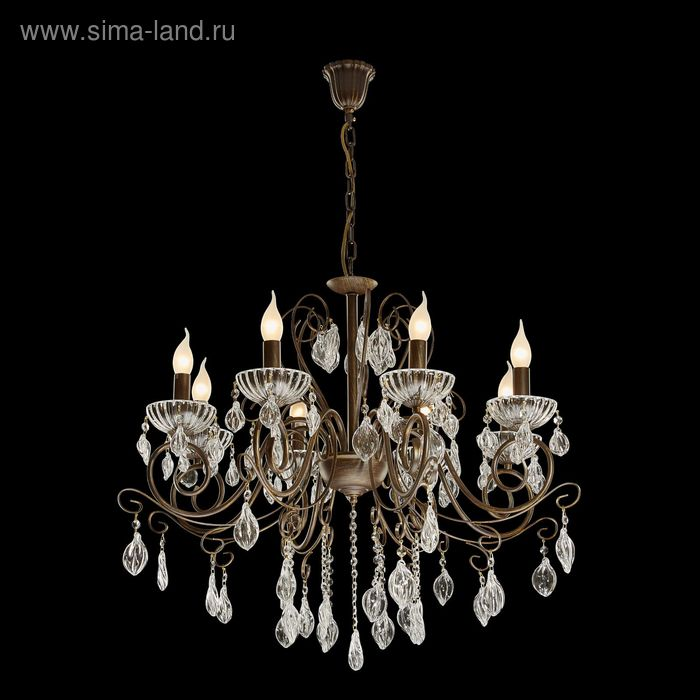 "Люстра ""Георг"" 8 ламп 60W Е14 бронза"