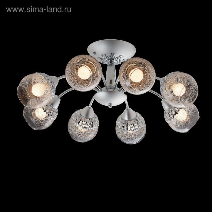 """Люстра """"Ледниковый период"""" 8 ламп 60W Е14 хром/матовое серебро"""