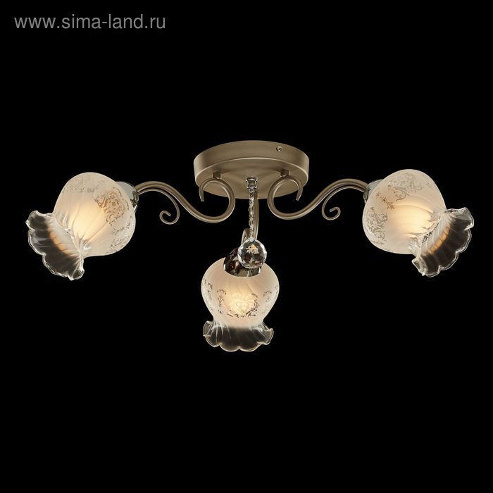 """Люстра """"Элиона"""" 3 лампы 60W Е14 никель"""