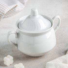 Сахарница «Кирмаш», 450 мл, цвет белый