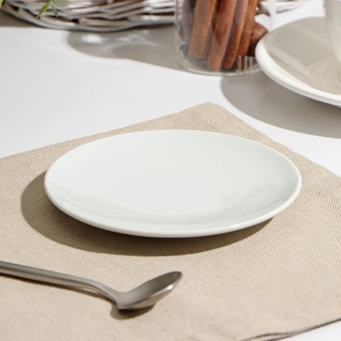 Блюдце 12,5 см, цвет белый