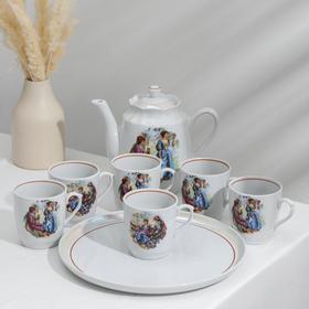 Набор чайный «Мадонна», 8 предметов: чайник 1,75 л, блюдо d= 30 см, 6 кружек 400 мл