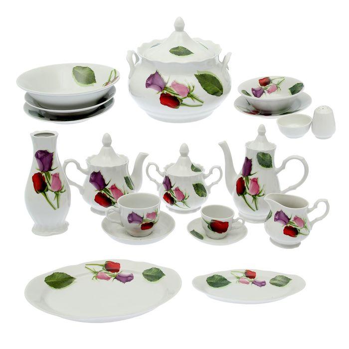 Набор столовой посуды «Королева цветов», 60 предметов