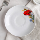 Блюдце «Маки красные», d=15 см