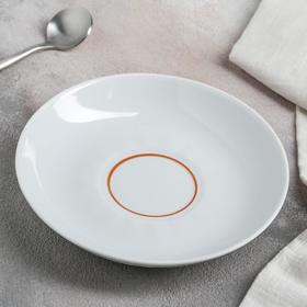 Блюдце, d=15 см, цвет белый/золотистый