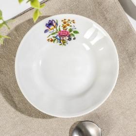 Блюдце для варенья 11 см 'Букет цветов' Ош