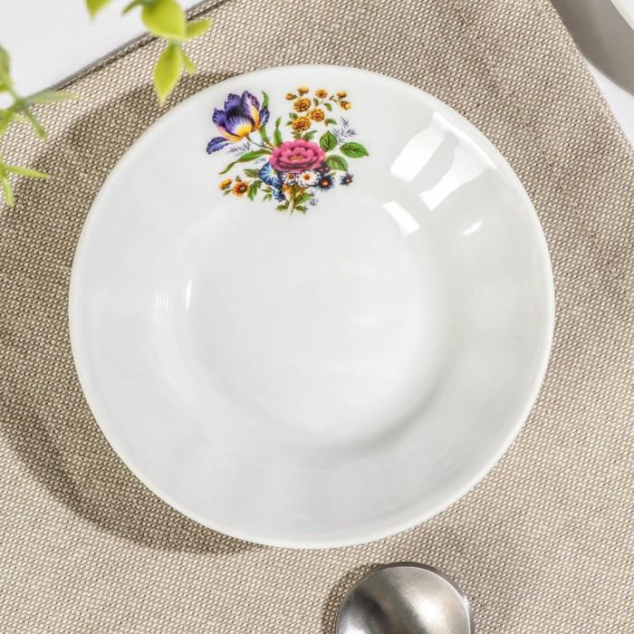 """Блюдце для варенья 11 см """"Букет цветов"""""""