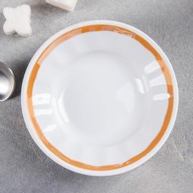 Блюдце 95 мл, d=11 см, цвет белый/золотистый
