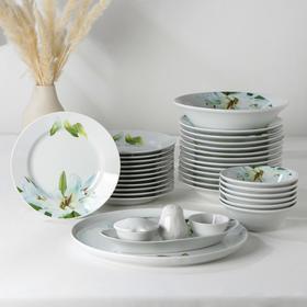 """Сервиз столовый """"Идиллия. Цветущая лилия"""", 36 предметов, 2 вида тарелок"""