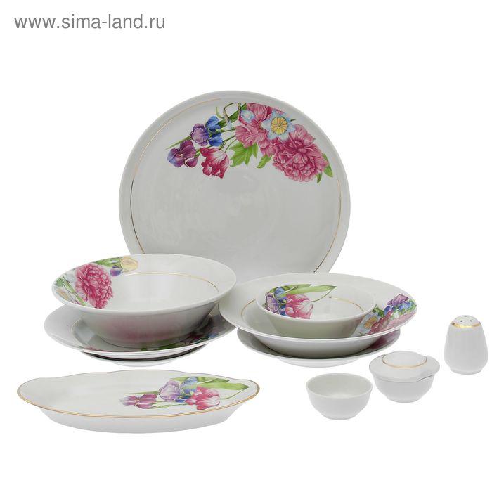 """Сервиз столовый 36 предметов, 4 вида тарелок, """"Идиллия. Английская классика"""""""