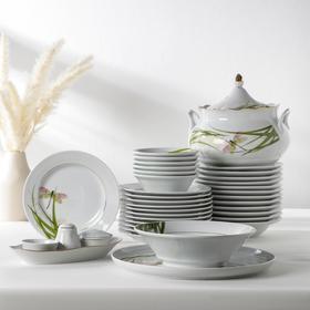 Сервиз столовый «Идиллия. Стрекоза», 37 предметов, 2 вида тарелок