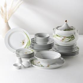 Сервиз столовый «Идиллия. Стрекоза», 37 предметов, 4 вида тарелок