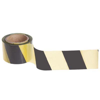 Лента оградительная, чёрно-жёлтая, ширина 7,5 см, 100 м