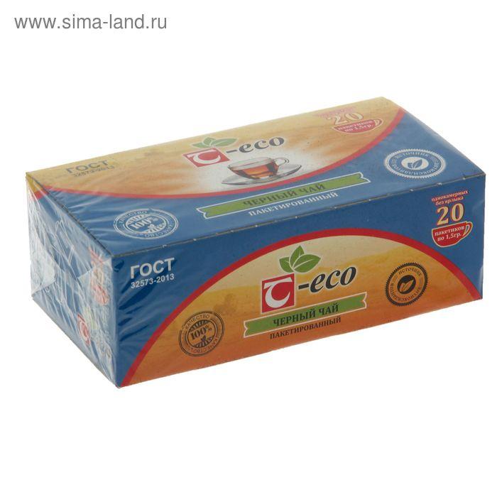 """Чай черный Т-Эко """"Танай"""" 20 п*1,75 г"""