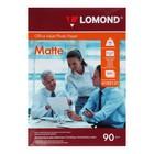 Фотобумага LOMOND для струйной печати А4, 90г/м, 500 листов, односторонняя, матовая