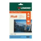Фотобумага А5 (210*148) для стр.принтеров LOMOND 180гр (50л) мат.одн.