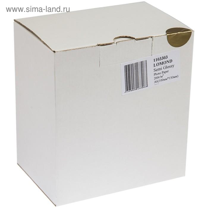 Фотобумага A6 (100*150) для стр. принтеров LOMOND 260 гр (500л) полугл.