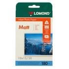 Фотобумага для струйной печати A6 (100x150) LOMOND, 102063, 180 г/м?, 50 листов, односторонняя, матовая