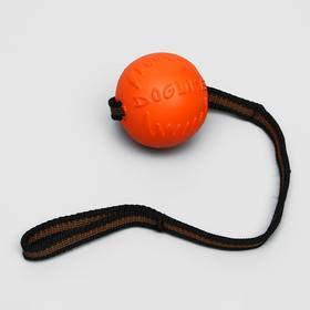 """Мяч для дрессировки """"ДогЛайк"""" с лентой, малый, диаметр 6,5 см, длина ленты 65 см"""