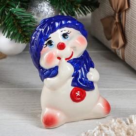 """Копилка """"Снеговик"""", новый год 2021, разноцветная, 14.5 см"""