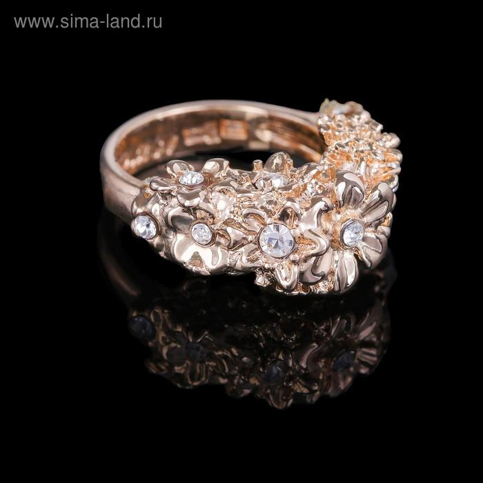 """Кольцо """"Бабаса"""", размер 19, цвет бело-радужный в золоте"""