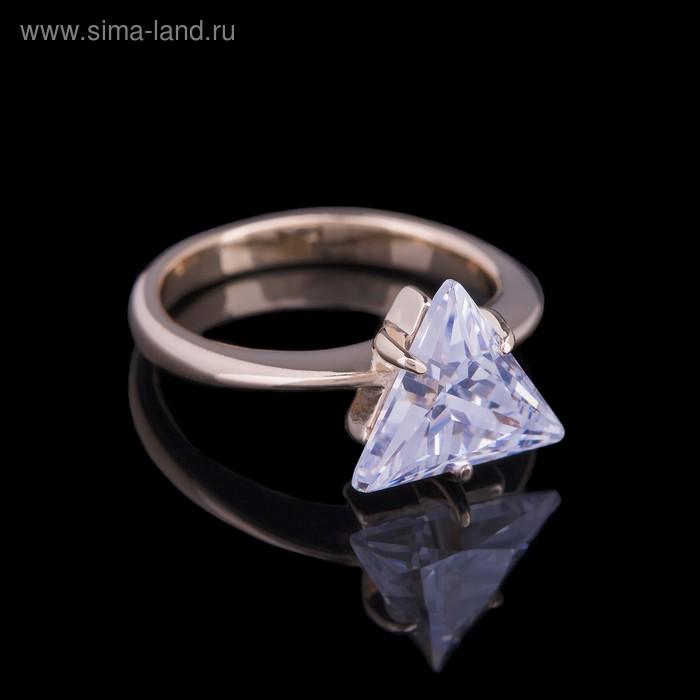 """Кольцо """"Чандра"""", размер 22, цвет белый в золоте"""