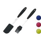 Набор кухонных принадлежностей CALVE, 2 предмета: лопатка, кисточка, силикон, МИКС