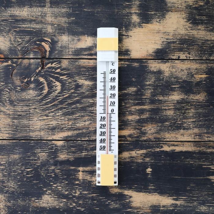 """Термометр сувенирный наружный (оконный) на """"гвоздике"""" с липкой лентой, упаковка блистер"""