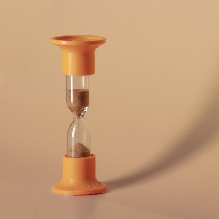 Часы песочные настольные на 2 минуты, упаковка пакет микс