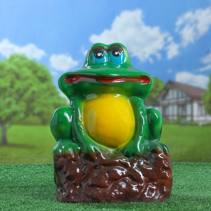 """Садовая фигура """"Лягушка на камне"""", разноцветная, 35 см, микс - фото 797730772"""