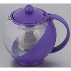 Чайник заварочный 750 мл, с ситечком, цвет фиолетовый