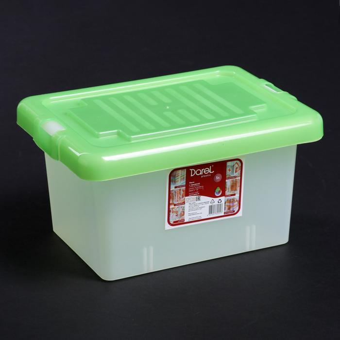 """Ящик для хранения прямоугольный 5 л """"Darel-box"""", цвет МИКС"""