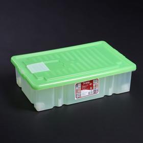Ящик для хранения с крышкой Darel-box, 36 л, 60×40×17 см, цвет МИКС