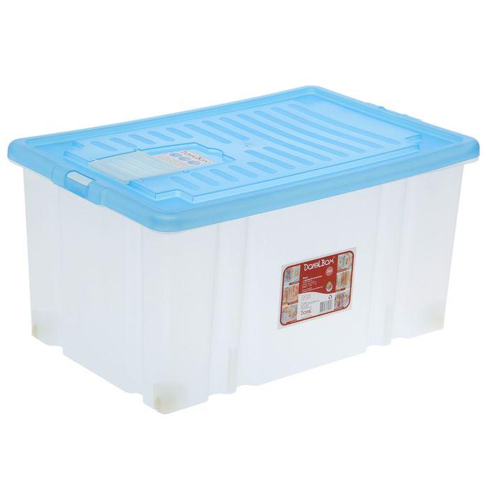 Ящик для хранения прямоугольный, 56 л Darel-box, цвет МИКС