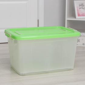 Ящик для хранения с крышкой Darel-box, 75 л, 70×49×37 см, цвет МИКС