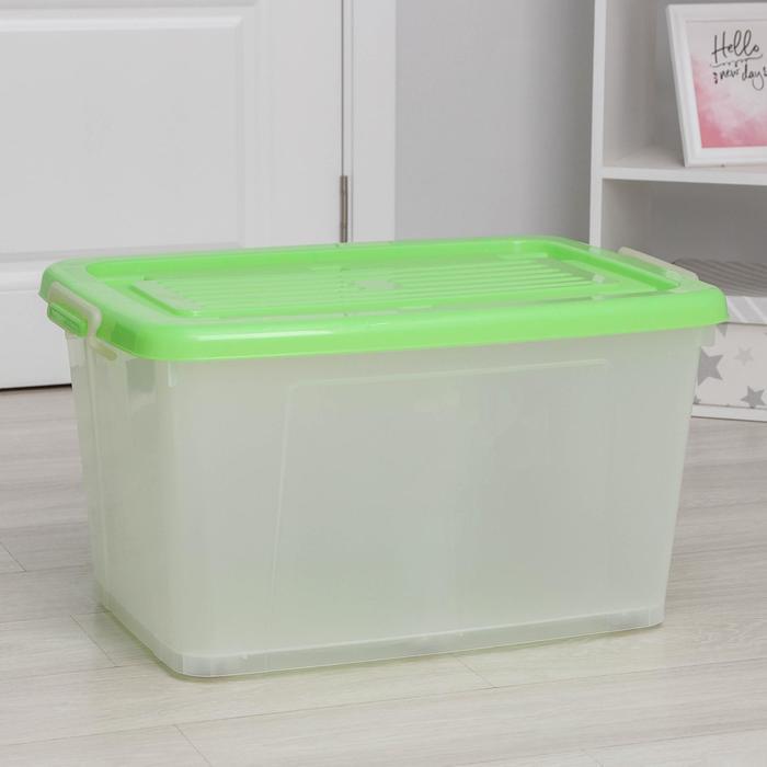 Ящик для хранения прямоугольный, 75 л Darel-box, цвет МИКС