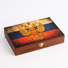 """Домино в шкатулке """"Россия"""""""