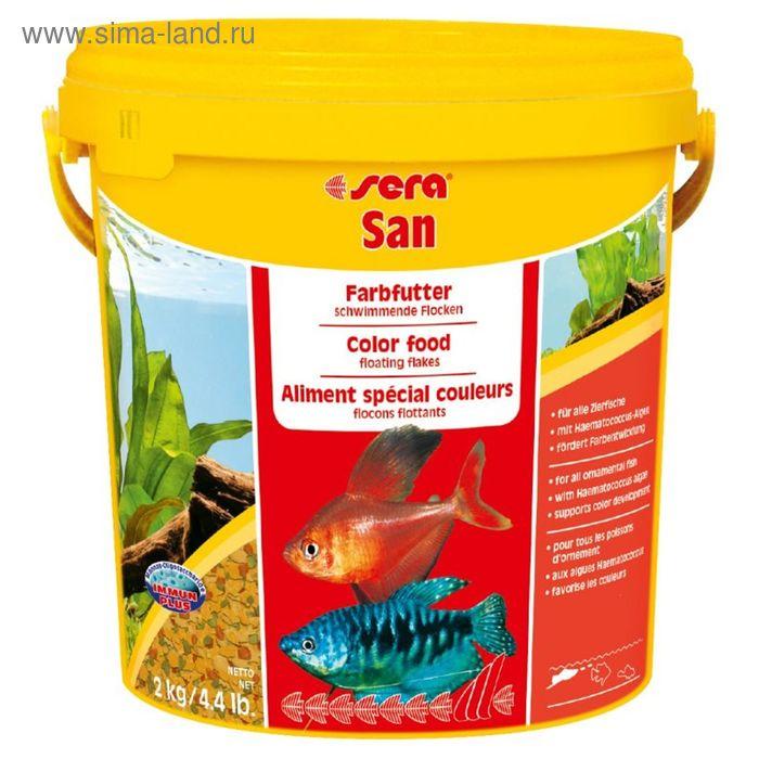 Корм для рыб для яркости окраски Sera Sun, 10 л, 2 кг