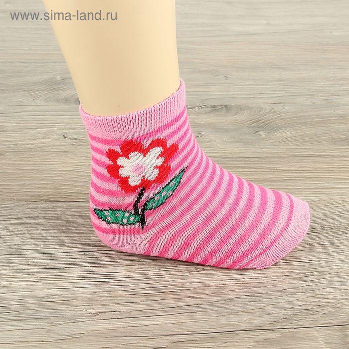 Носки детские Collorista Цветочек, размер С, возраст 7-10 л.,цвет микс