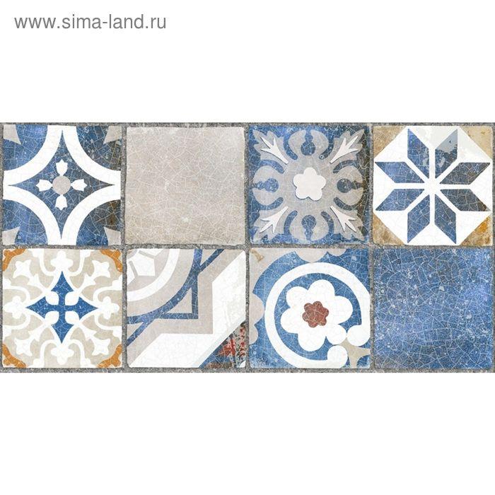 Облицовочная плитка Лофт синий (орнамент) 08-11-65-742 40х20см (в упаковке 1,28 кв.м)
