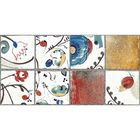 Облицовочная плитка Лофт песочный (цветочный) 08-10-23-741 40х20см (в упаковке 1,28 кв.м)