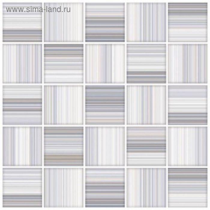Плитка напольная Меланж голубой мозайка 38,5х38,5см 16-00-61-440 (в упаковке 0,88 кв.м)