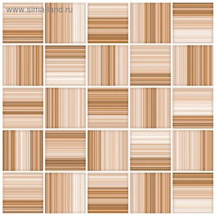 Плитка напольная Меланж бежевый мозайка 38,5х38,5см 16-00-11-440 (в упаковке 0,88 кв.м)