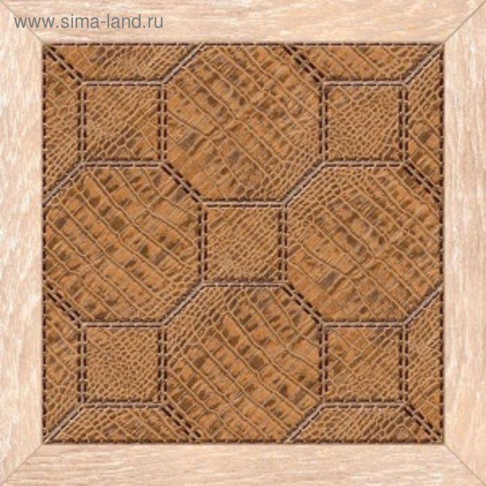 Плитка напольная Люкс коричневый темный 38,5х38,5см 16-01-15-121 (в упаковке 0,88 кв.м)