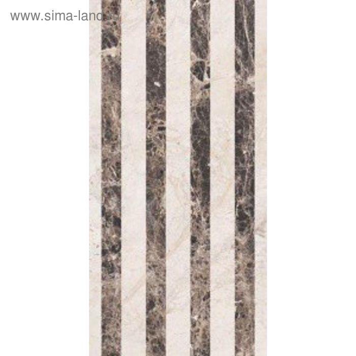Облицовочная плитка Генуя коричневый (полосы) 10-11-15-509 50х25см (в упаковке 1 кв.м)