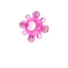 Эрекционное кольцо ToyFa Super Ring с бусинами, розовое