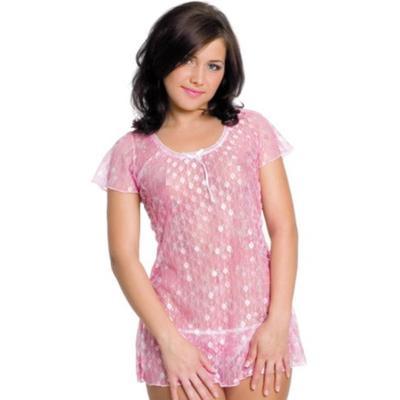 Комплект белья «Sisi»: сорочка, стринги, размер S/L, розовый