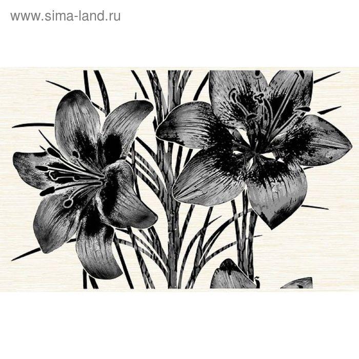 Декор 40х25см Piano черный 09-03-04-081-2